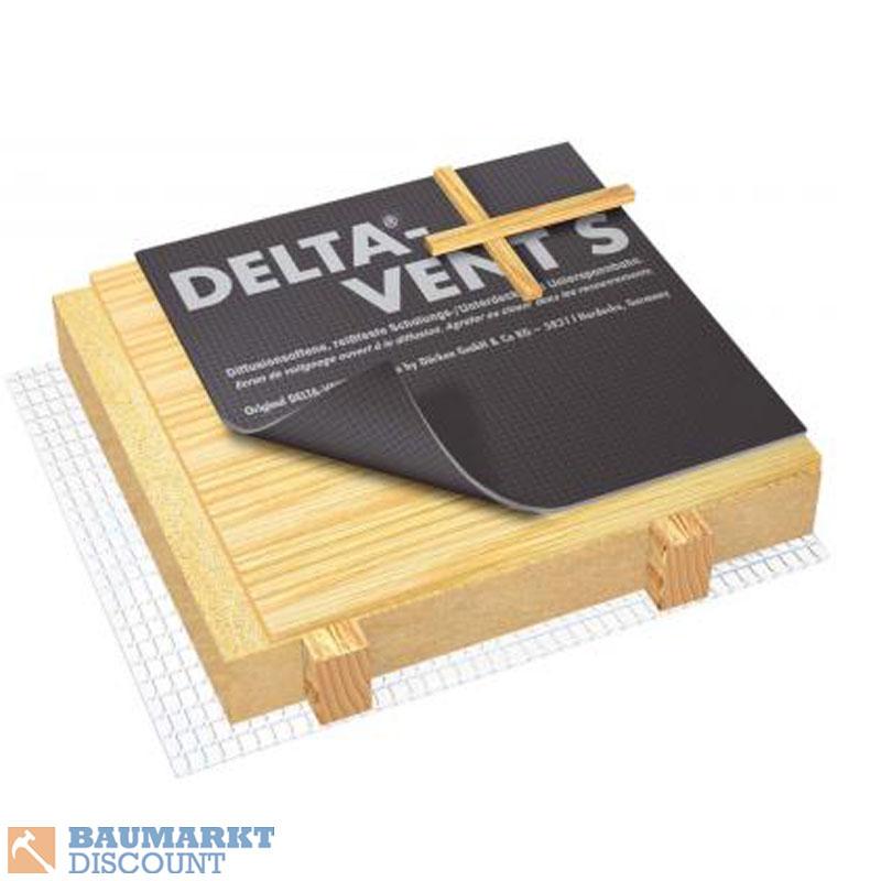 d rken delta vent s unterspannbahn schalungsbahn 1 5 x 50. Black Bedroom Furniture Sets. Home Design Ideas