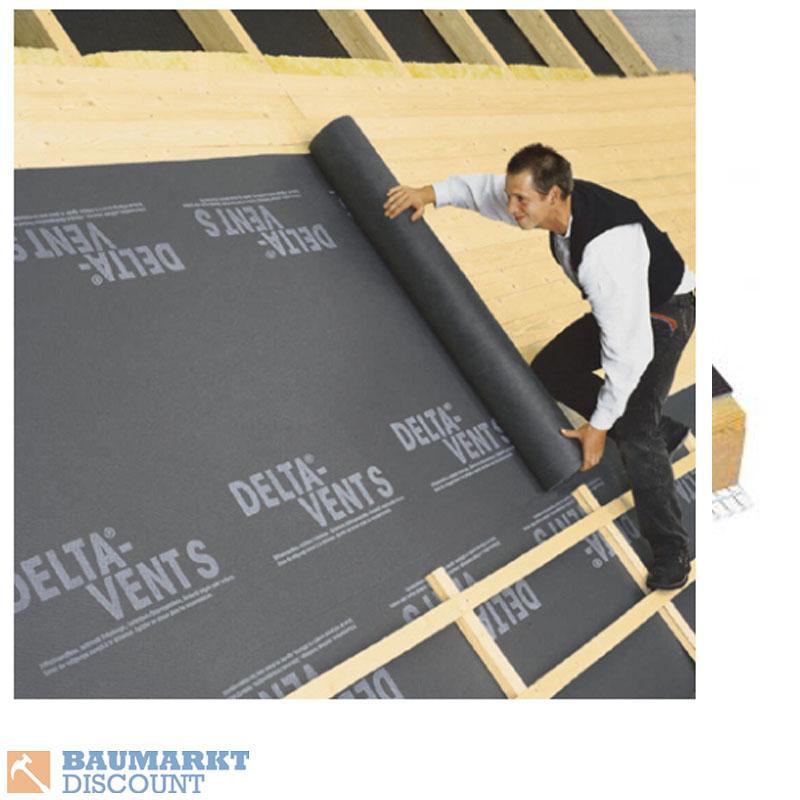 d rken delta vent s unterspannbahn schalungsbahn 1 5 x 50 m ebay. Black Bedroom Furniture Sets. Home Design Ideas