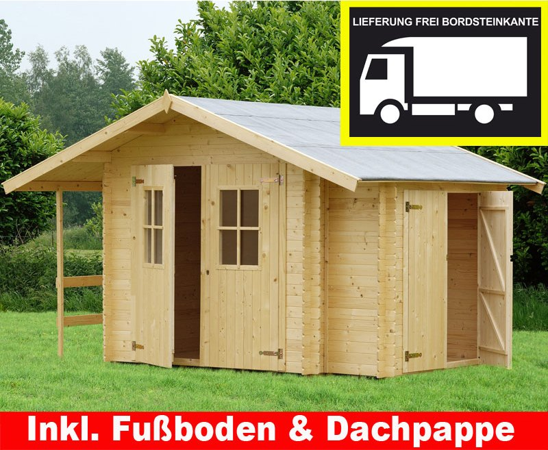 blockbohlen gartenhaus good mm blockbohlen x m with. Black Bedroom Furniture Sets. Home Design Ideas