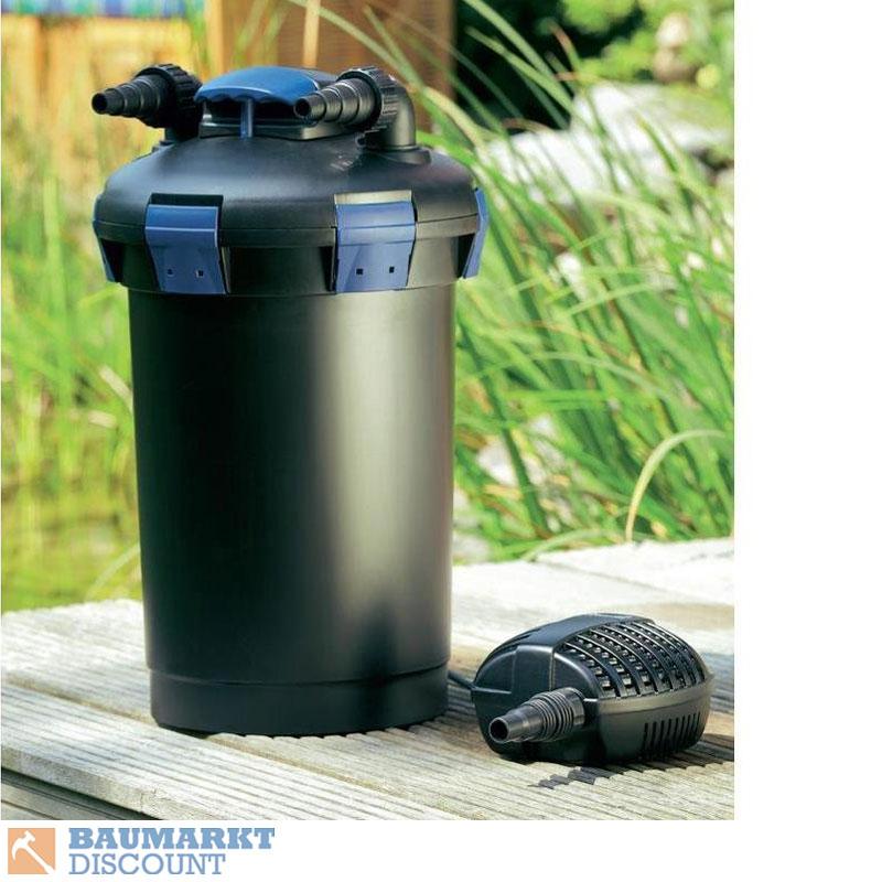 oase biopress set 10000 druckfilter mit filterpumpe und uvc kl rer nr 50455 ebay. Black Bedroom Furniture Sets. Home Design Ideas
