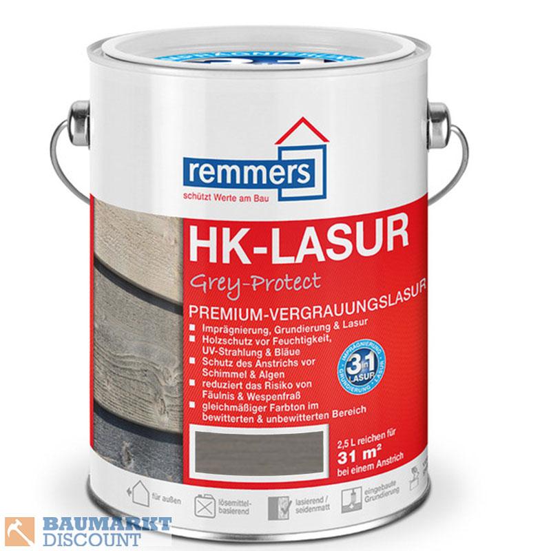 15 58 l remmers hk lasur grey protect silber graphit oder platingrau 2 5 lt ebay. Black Bedroom Furniture Sets. Home Design Ideas