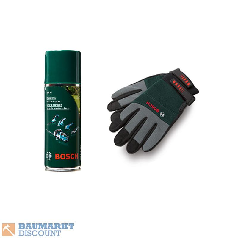 bosch heckenschere ahs 70 34 pflegespray 250 ml handschuhe ebay. Black Bedroom Furniture Sets. Home Design Ideas
