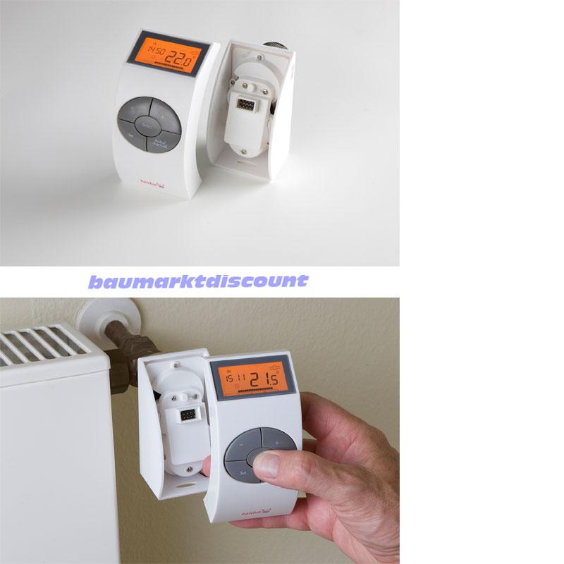 heizlux elektronischer thermostatregeler heizk rperregler hk55 ebay. Black Bedroom Furniture Sets. Home Design Ideas