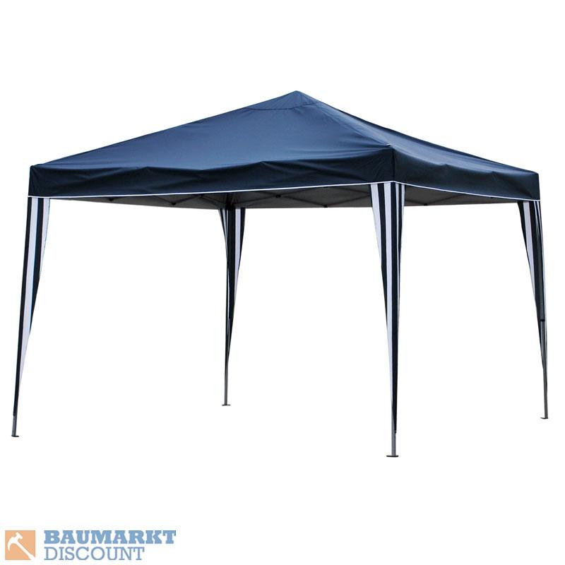 bellavista pavillon faltbar 3 x 3 m blau faltpavillon. Black Bedroom Furniture Sets. Home Design Ideas