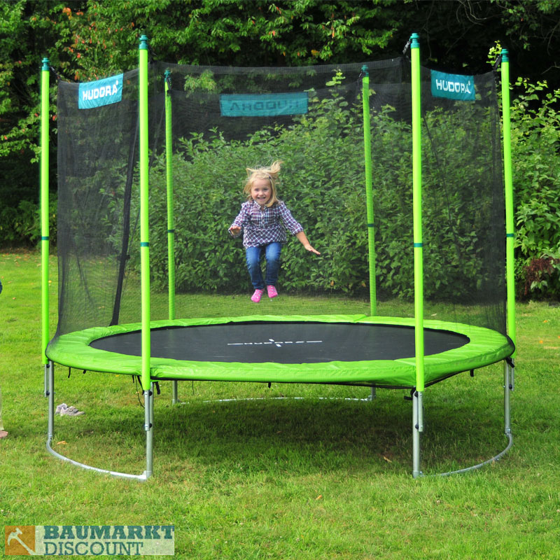 hudora family trampolin 300 cm mit sicherheitsnetz. Black Bedroom Furniture Sets. Home Design Ideas