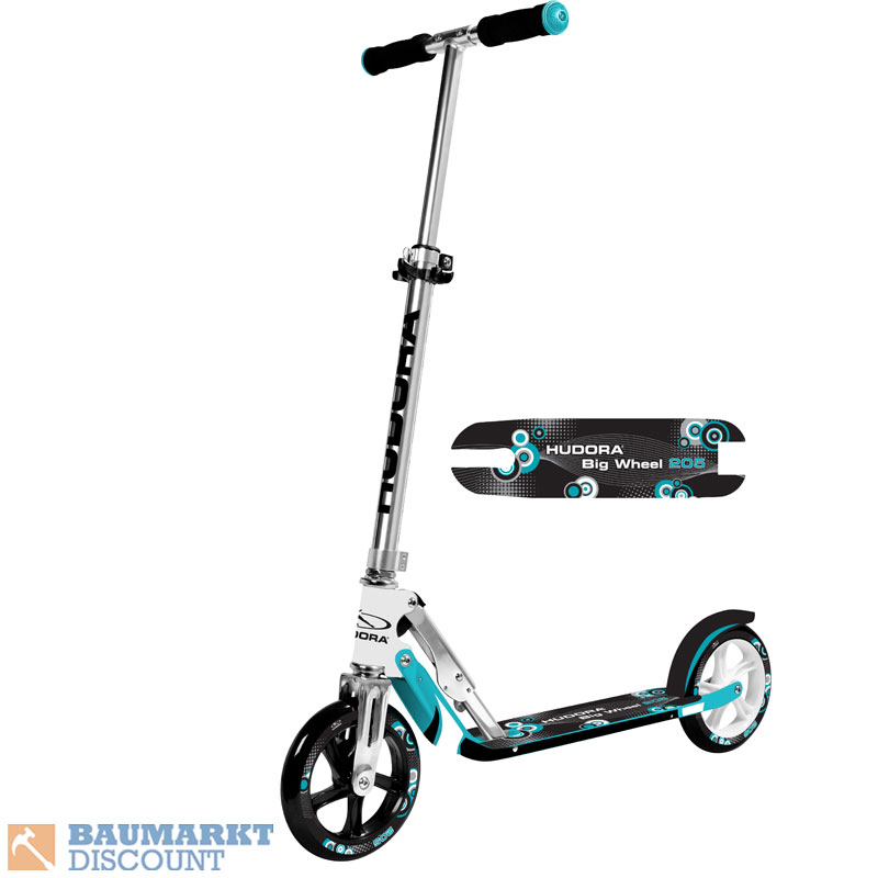 hudora scooter big wheel 205 t rkis nr 14751. Black Bedroom Furniture Sets. Home Design Ideas