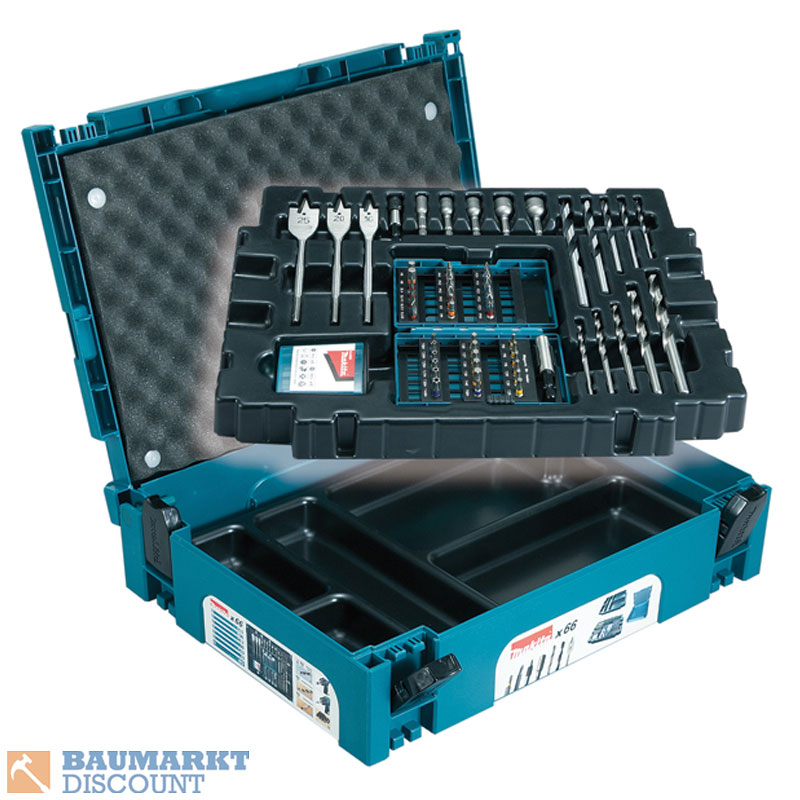 makita bohrer bit set 66 tlg im makpac b 43044 ebay. Black Bedroom Furniture Sets. Home Design Ideas