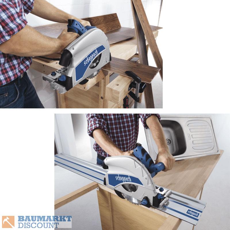 scheppach tauchs ge pl 75 mit f hrungsschiene 140 cm zubeh r ebay. Black Bedroom Furniture Sets. Home Design Ideas