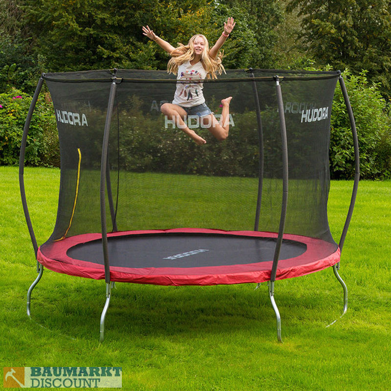 hudora fantastic trampolin 300 cm mit sicherheitsnetz neuheit ebay. Black Bedroom Furniture Sets. Home Design Ideas
