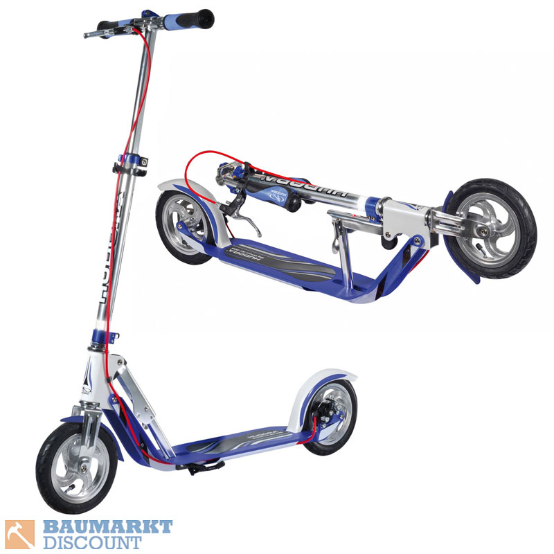 hudora scooter big wheel air 205 dual brake roller nr 14015 ebay. Black Bedroom Furniture Sets. Home Design Ideas