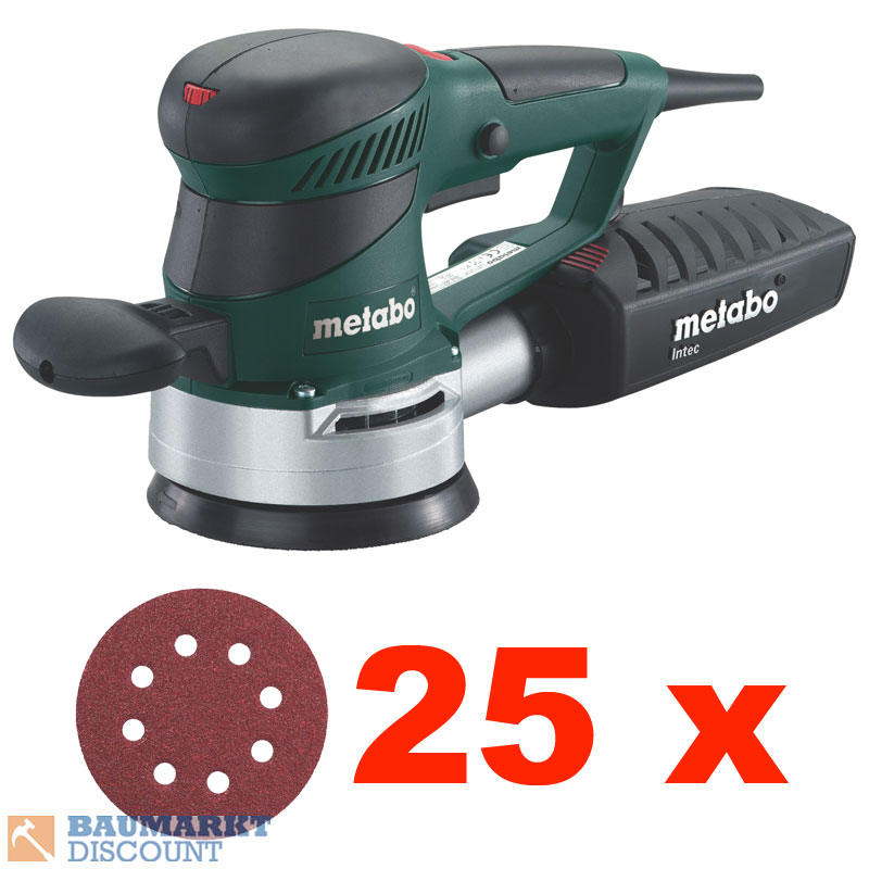metabo exzenterschleifer sxe 425 turbotec 25 schleibbl tter ebay. Black Bedroom Furniture Sets. Home Design Ideas