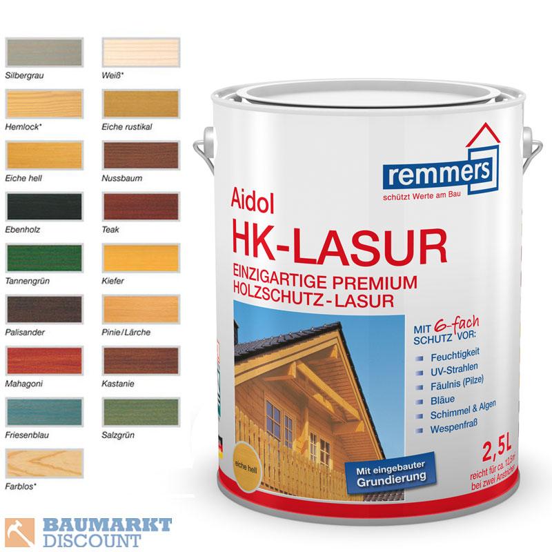 remmers aidol hk lasur 2 5 ltr verschiedene farben. Black Bedroom Furniture Sets. Home Design Ideas