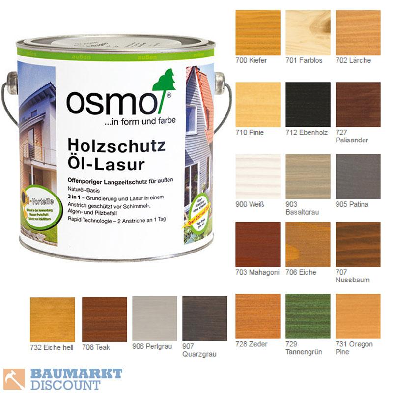 29 27 1 l osmo holzschutz l lasur 0 75 ltr verschiedene farbt ne ebay. Black Bedroom Furniture Sets. Home Design Ideas